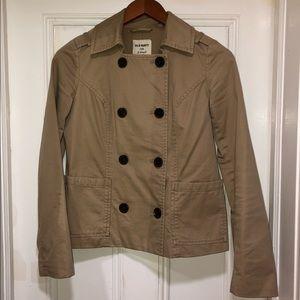 Waist length trench coat